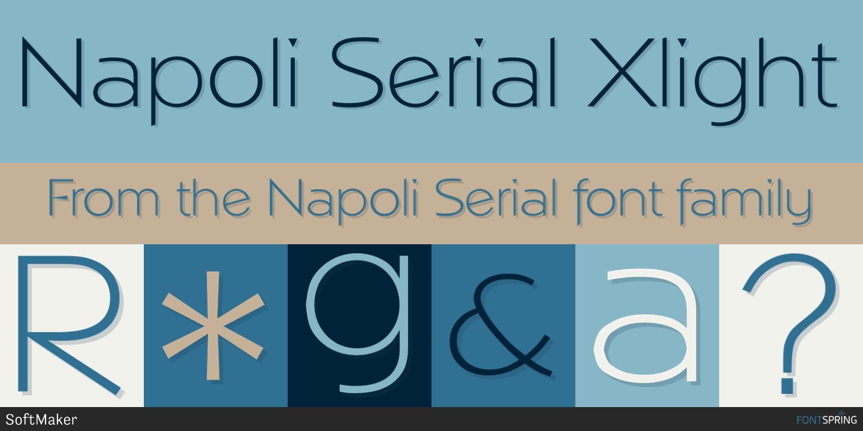 Fontspring | Similar Fonts To Napoli Serial