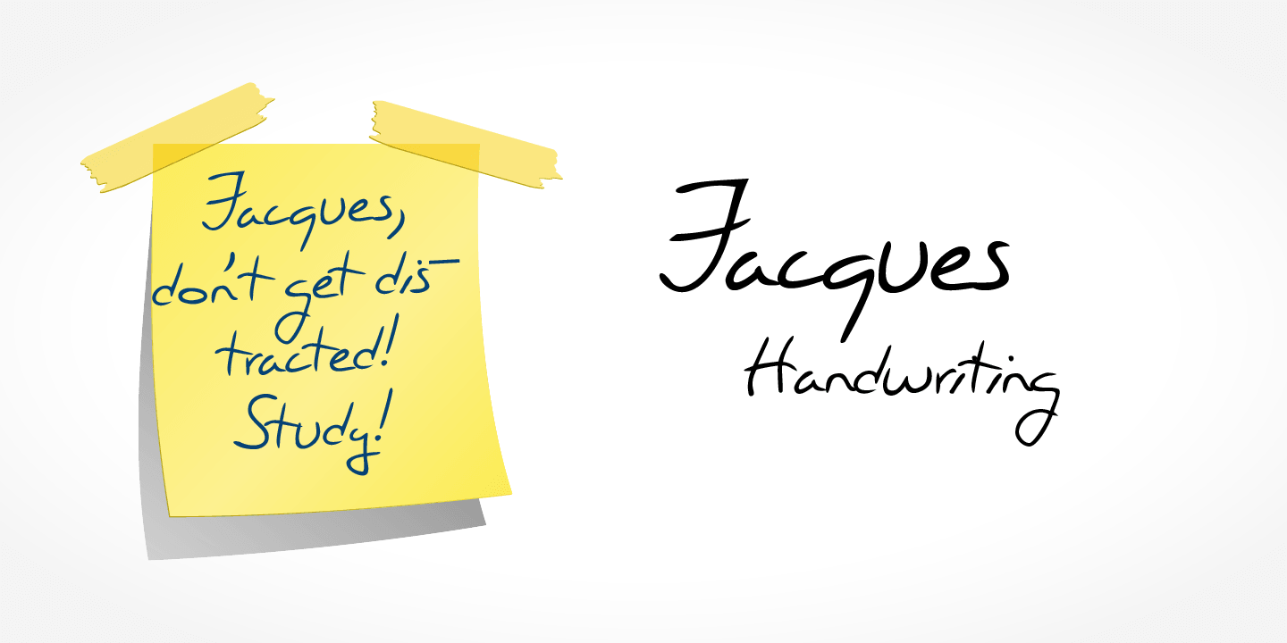 Jacques Handwriting font family