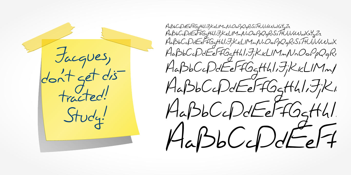 Jacques Handwriting font family - 4