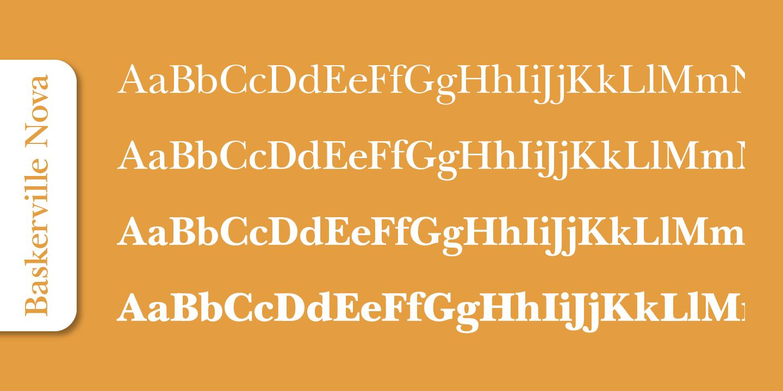 Fontspring   Baskerville Nova Pro Fonts by SoftMaker