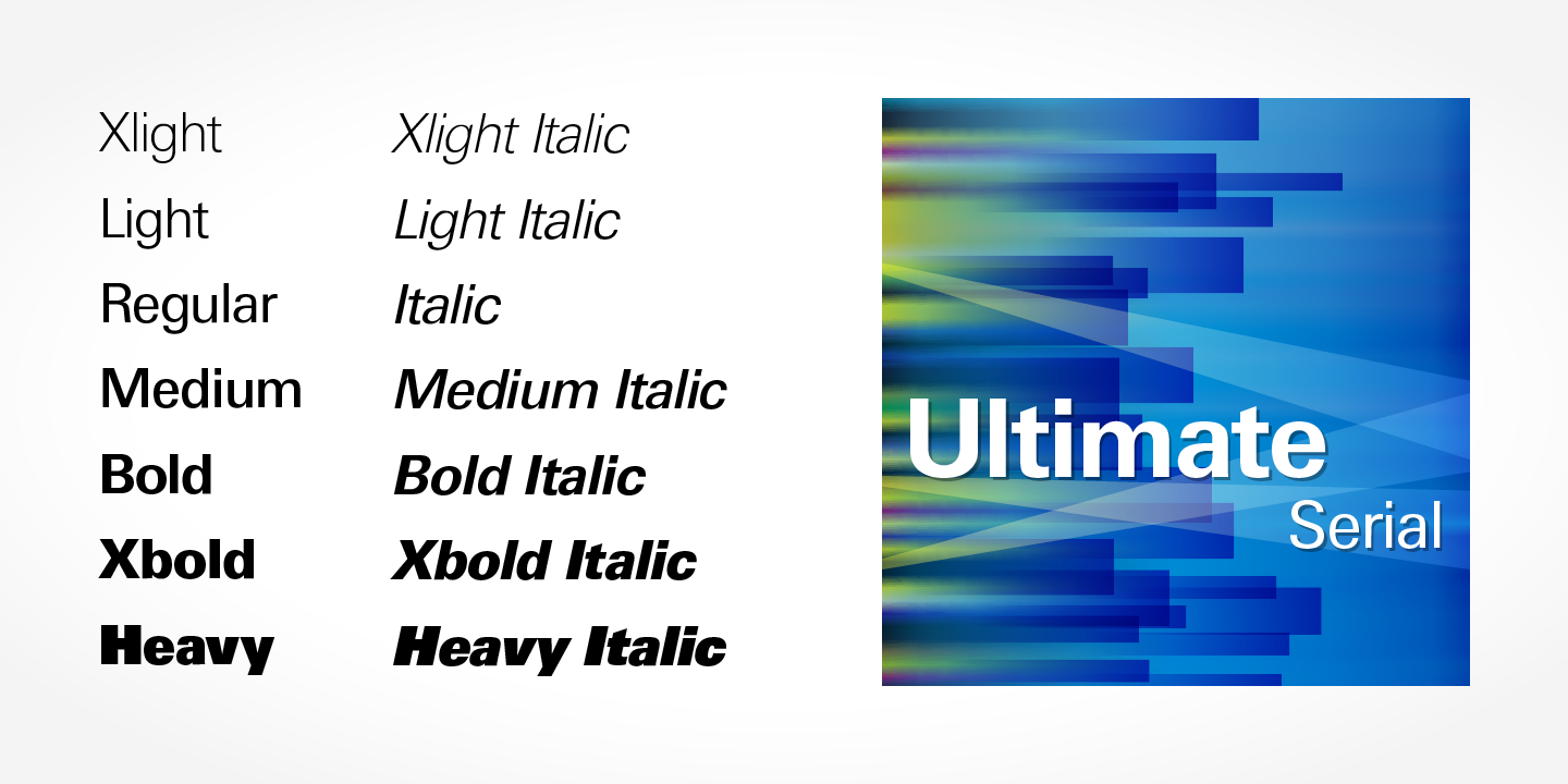 Ultimate Serial font family - 1