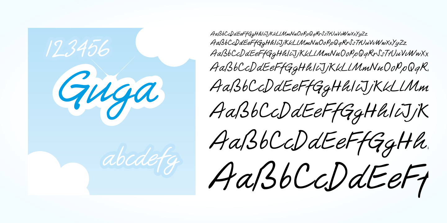 Guga Handwriting font family - 4
