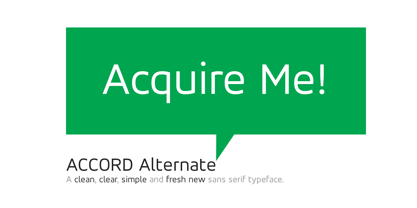 Accord alternate bold Free Font