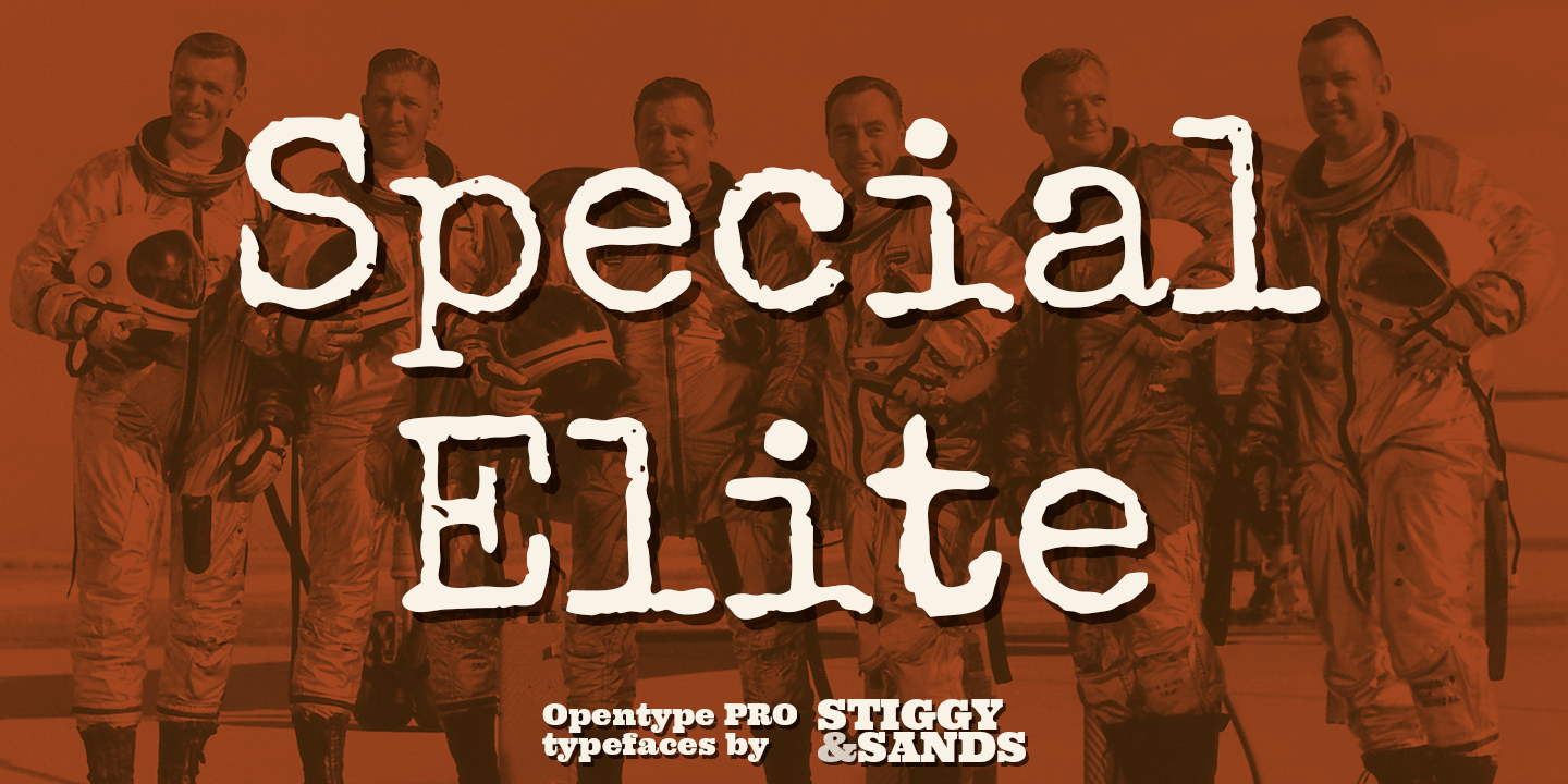 Special Elite Pro font family