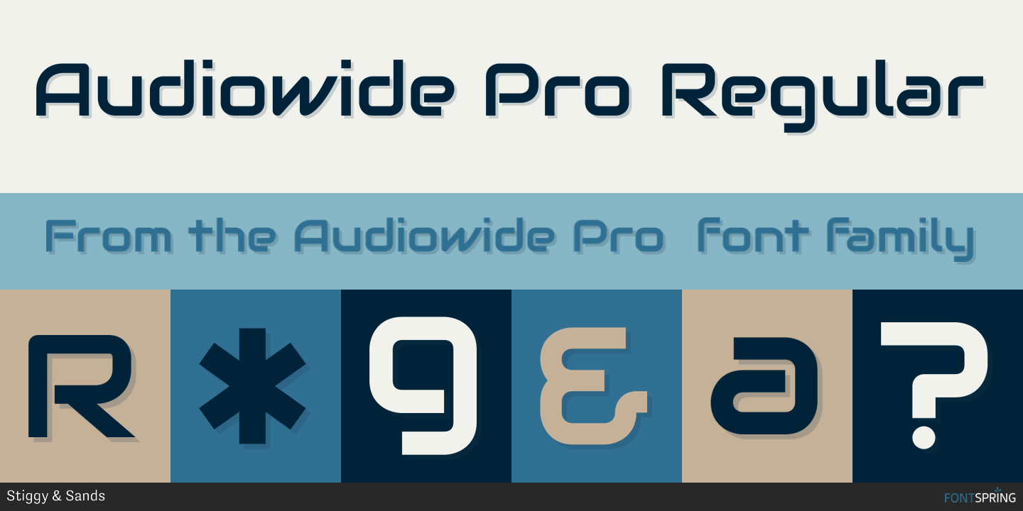 Fontspring   Similar Fonts To Audiowide Pro