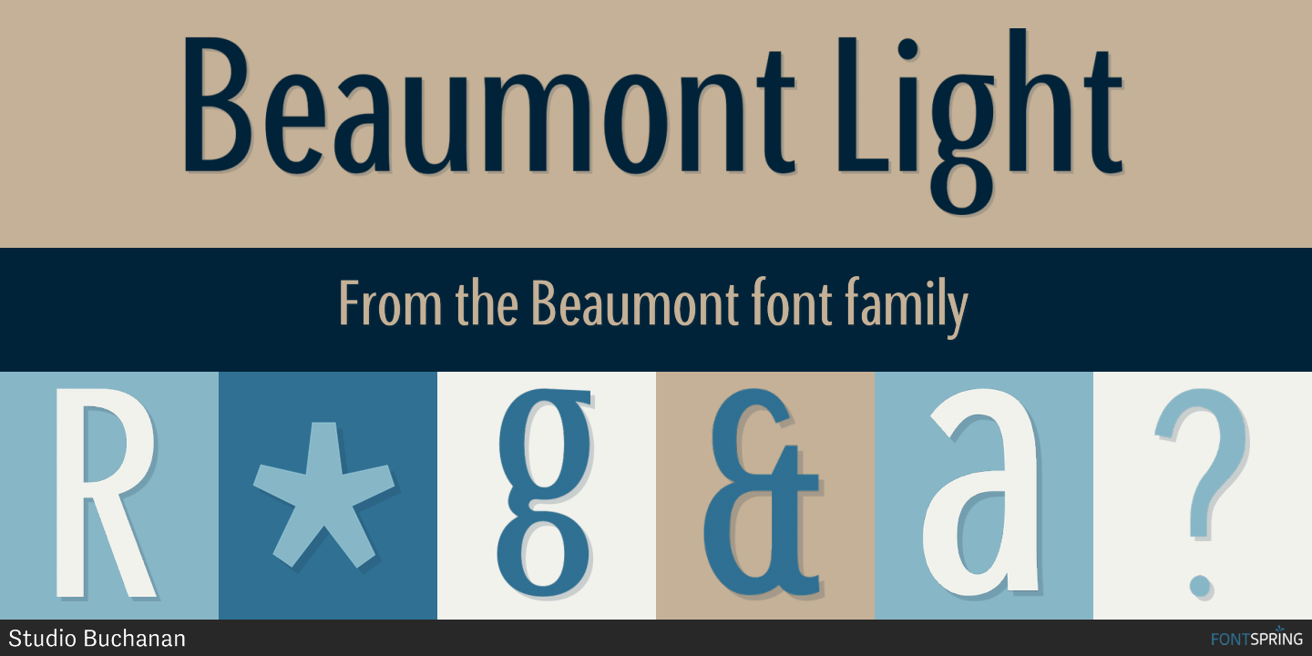 Fontspring | Similar Fonts To Beaumont
