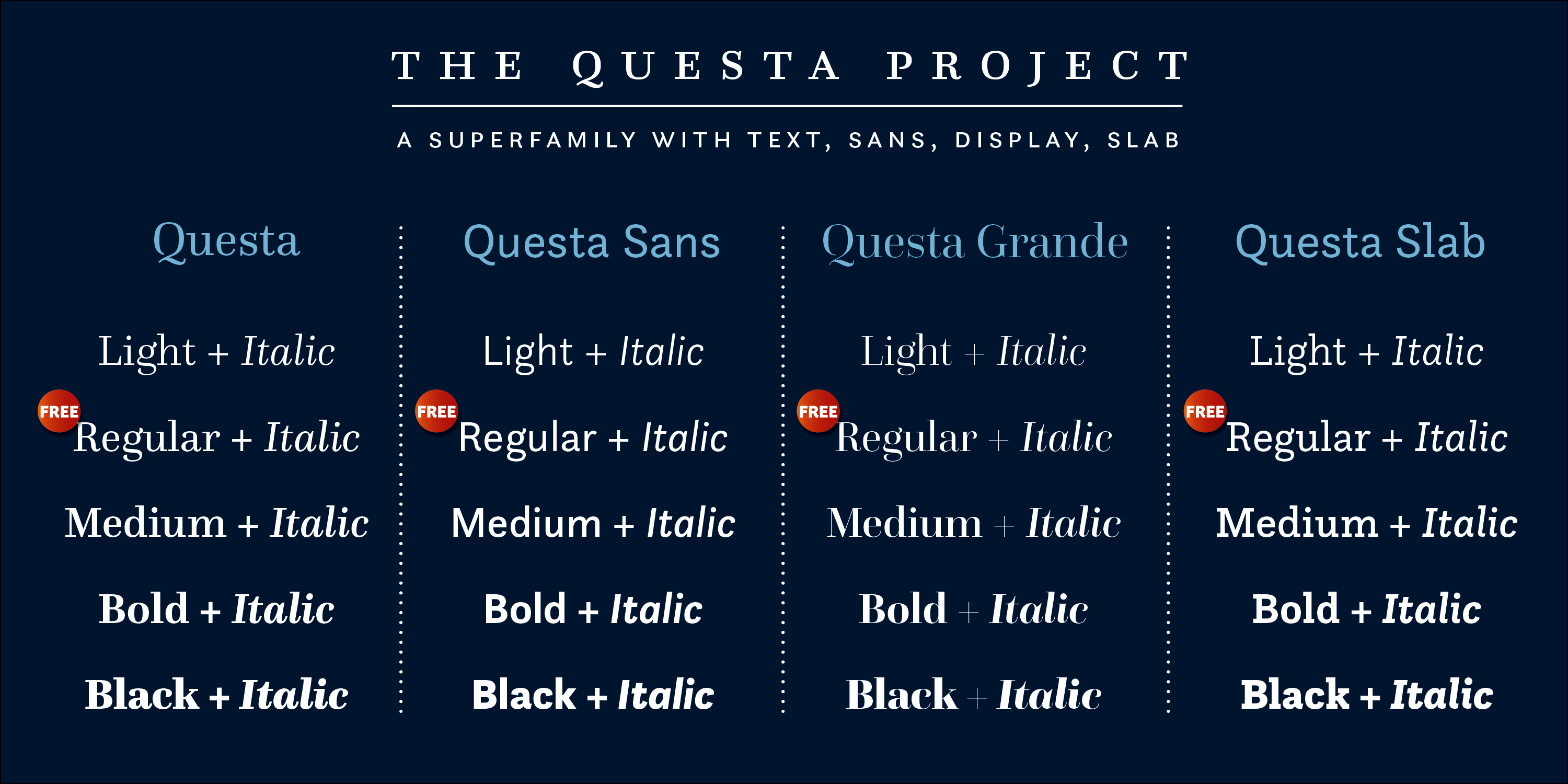 Questa Complete font collection - 1