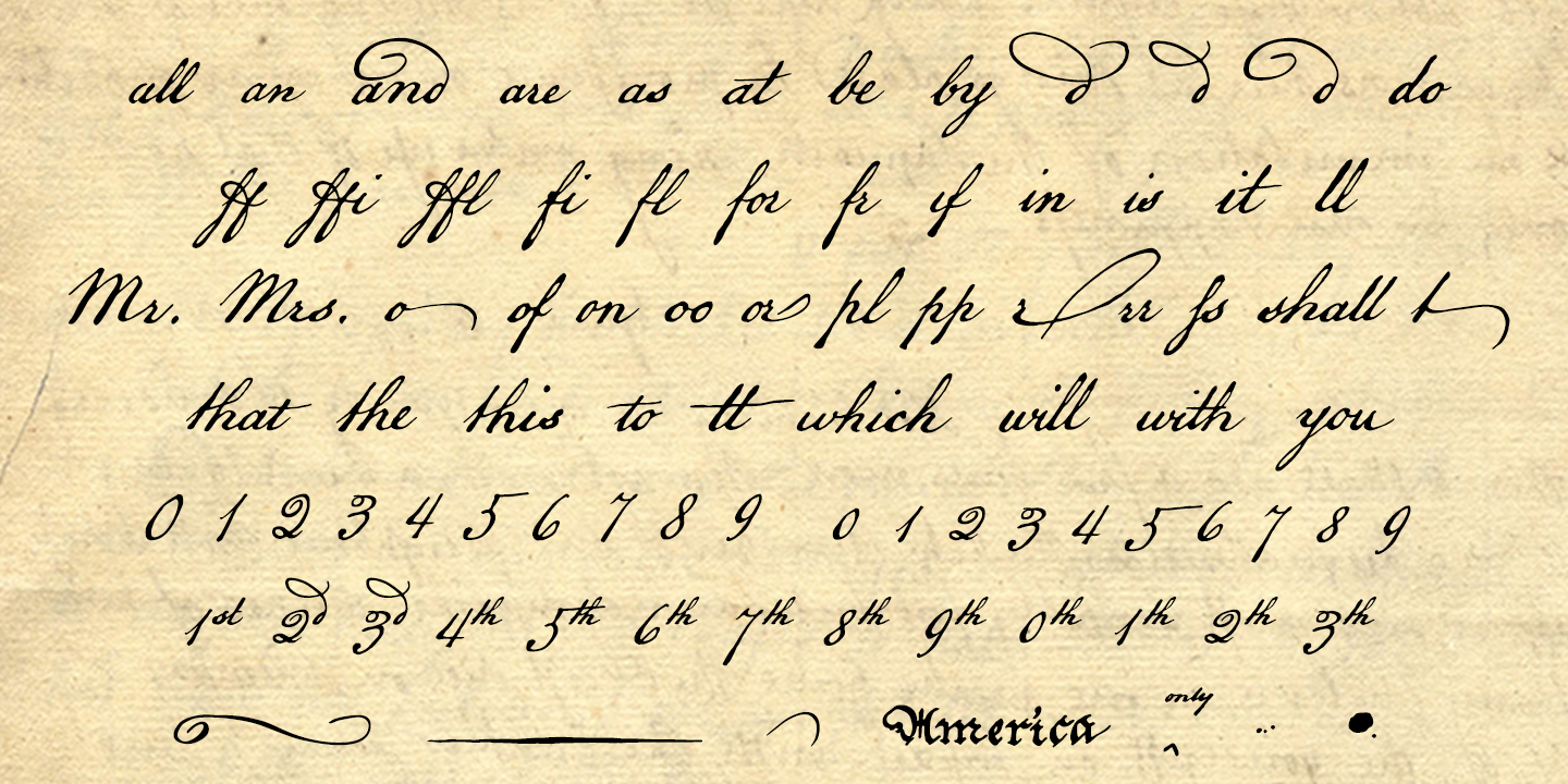 American Scribe Font By Three Islands Press Fontspring