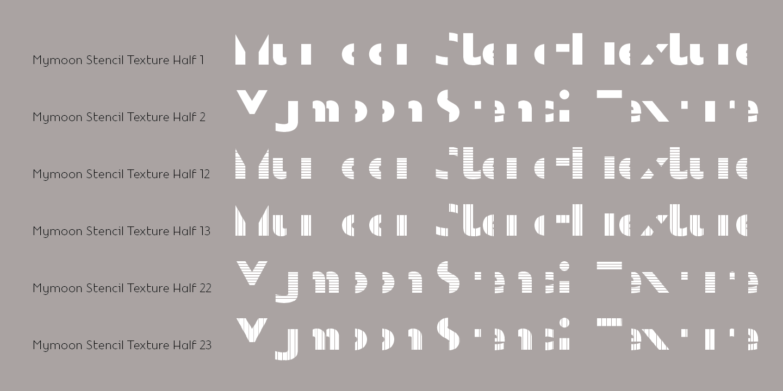 Fontspring   Mymoon Stencil Texture Fonts by Tour de Force Font Foundry