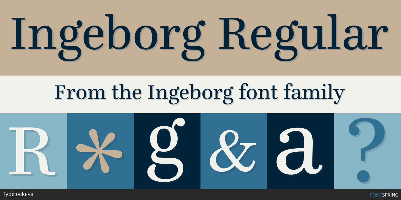 Fontspring   Similar Fonts To Ingeborg