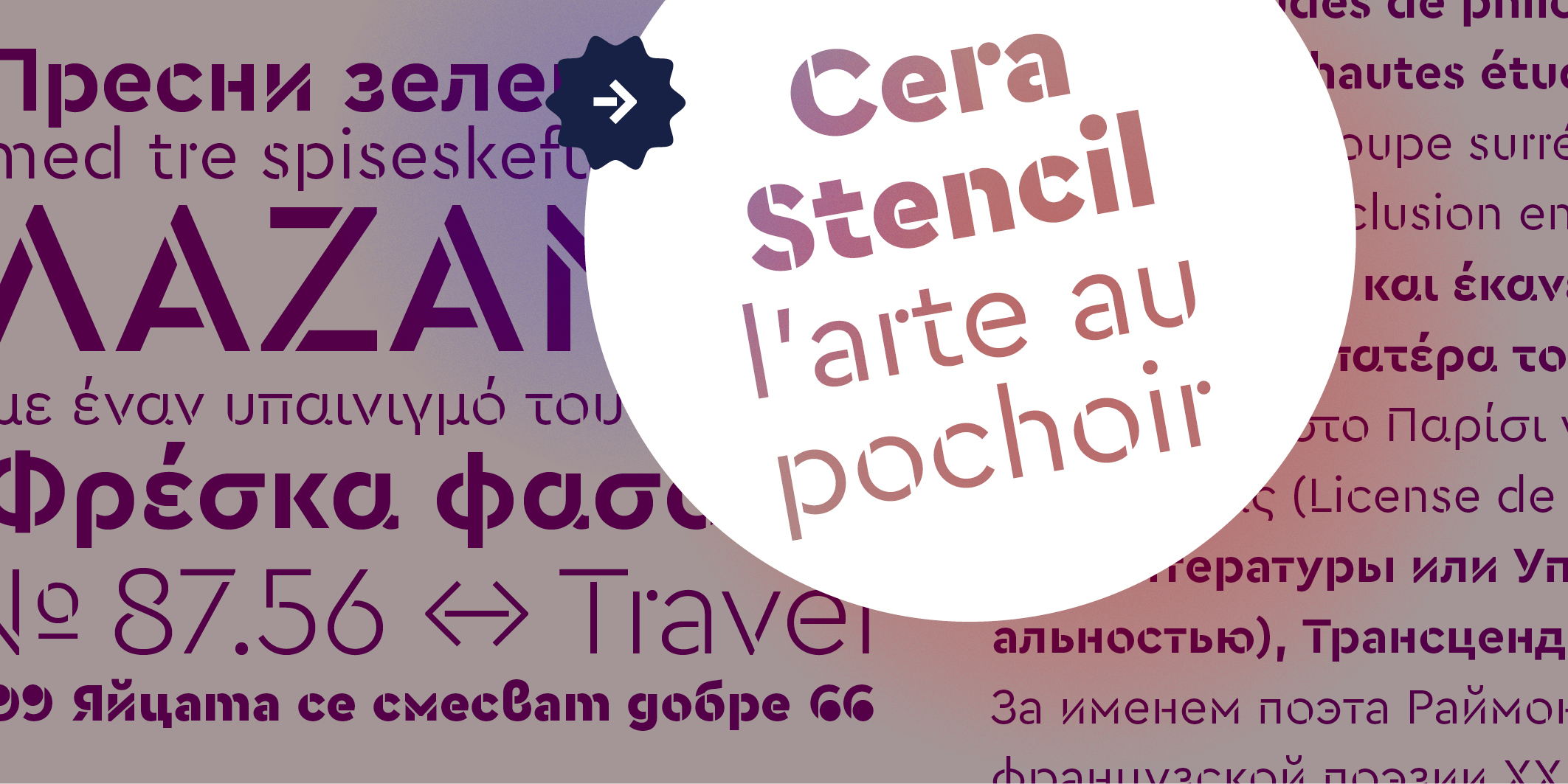 Cera & Cera Stencil PRO Collection font collection - 9