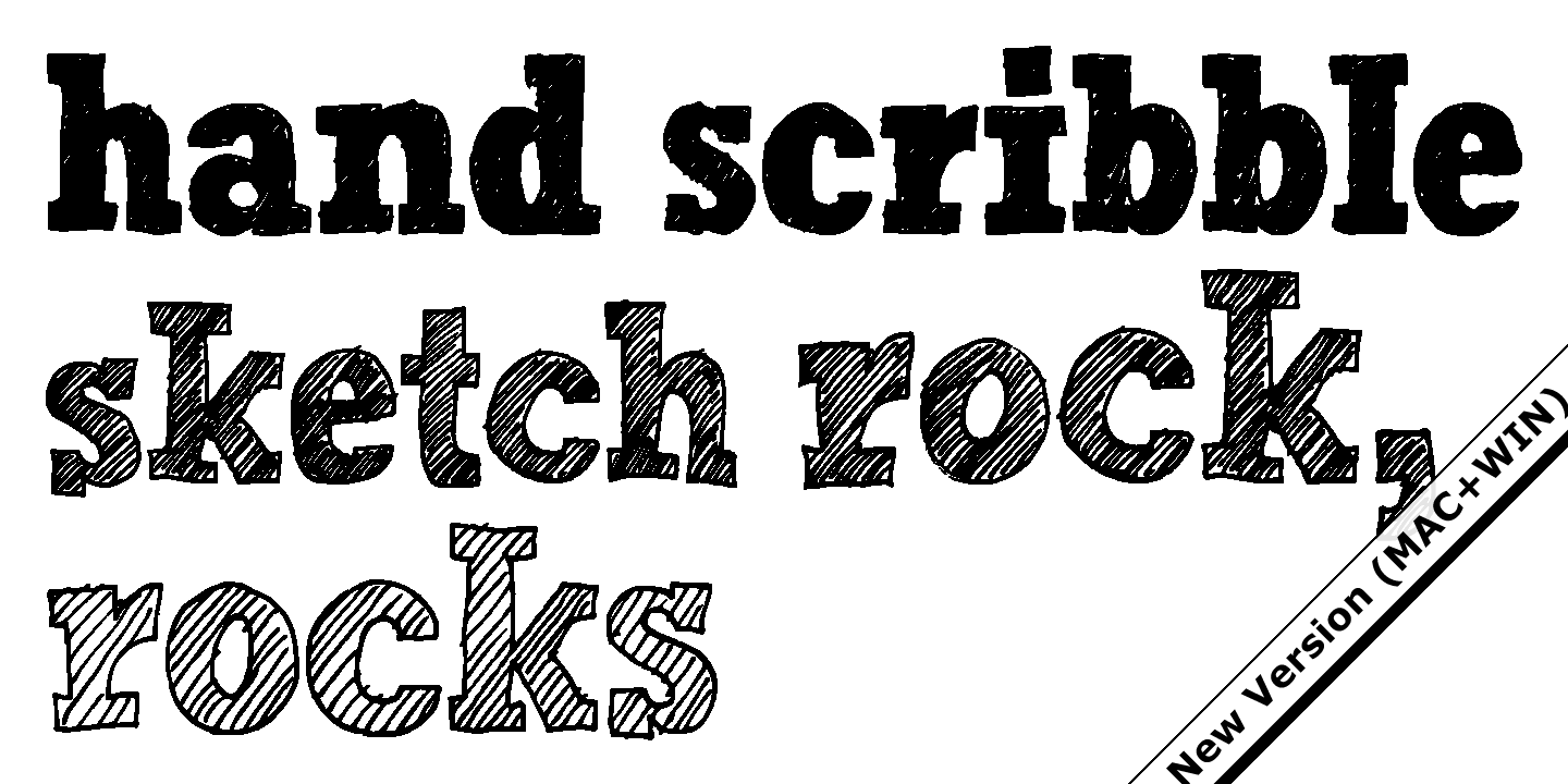 Fontspring | Hand Scribble Sketch Rock Fonts By Typo Graphic Design