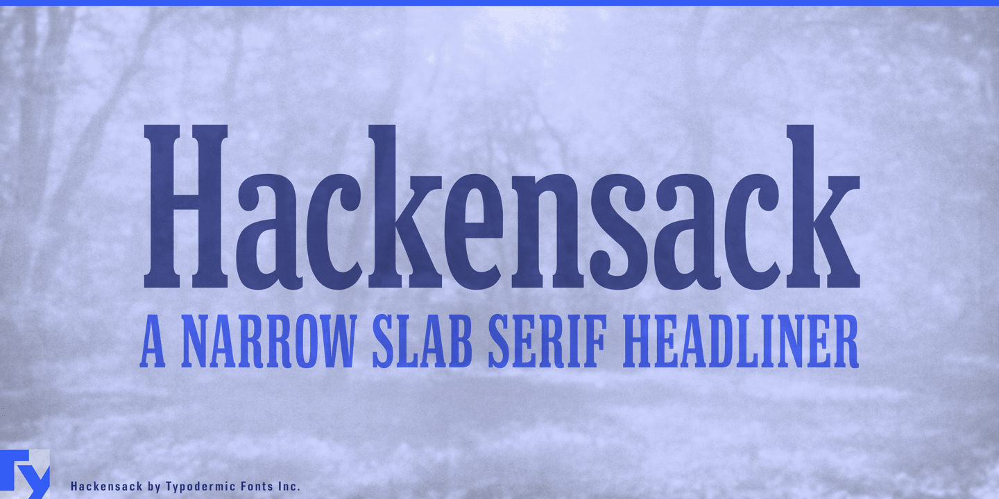 Hackensack font family