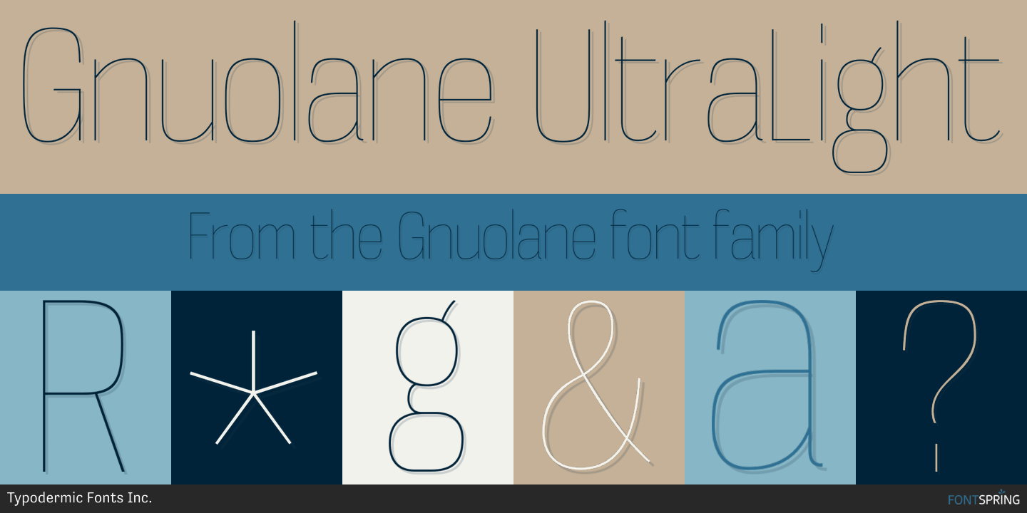 Fontspring | Similar Fonts To Gnuolane