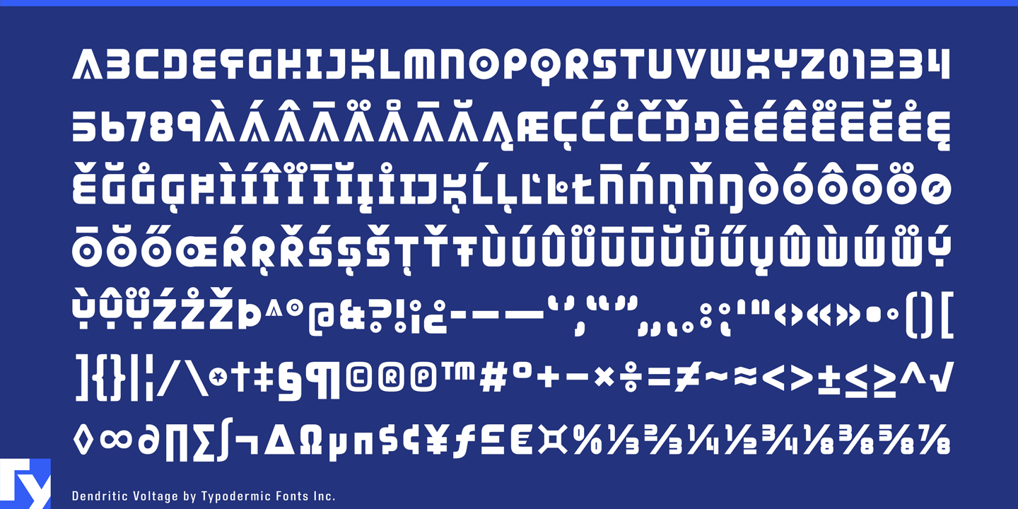 Dendritic Voltage font family - 1