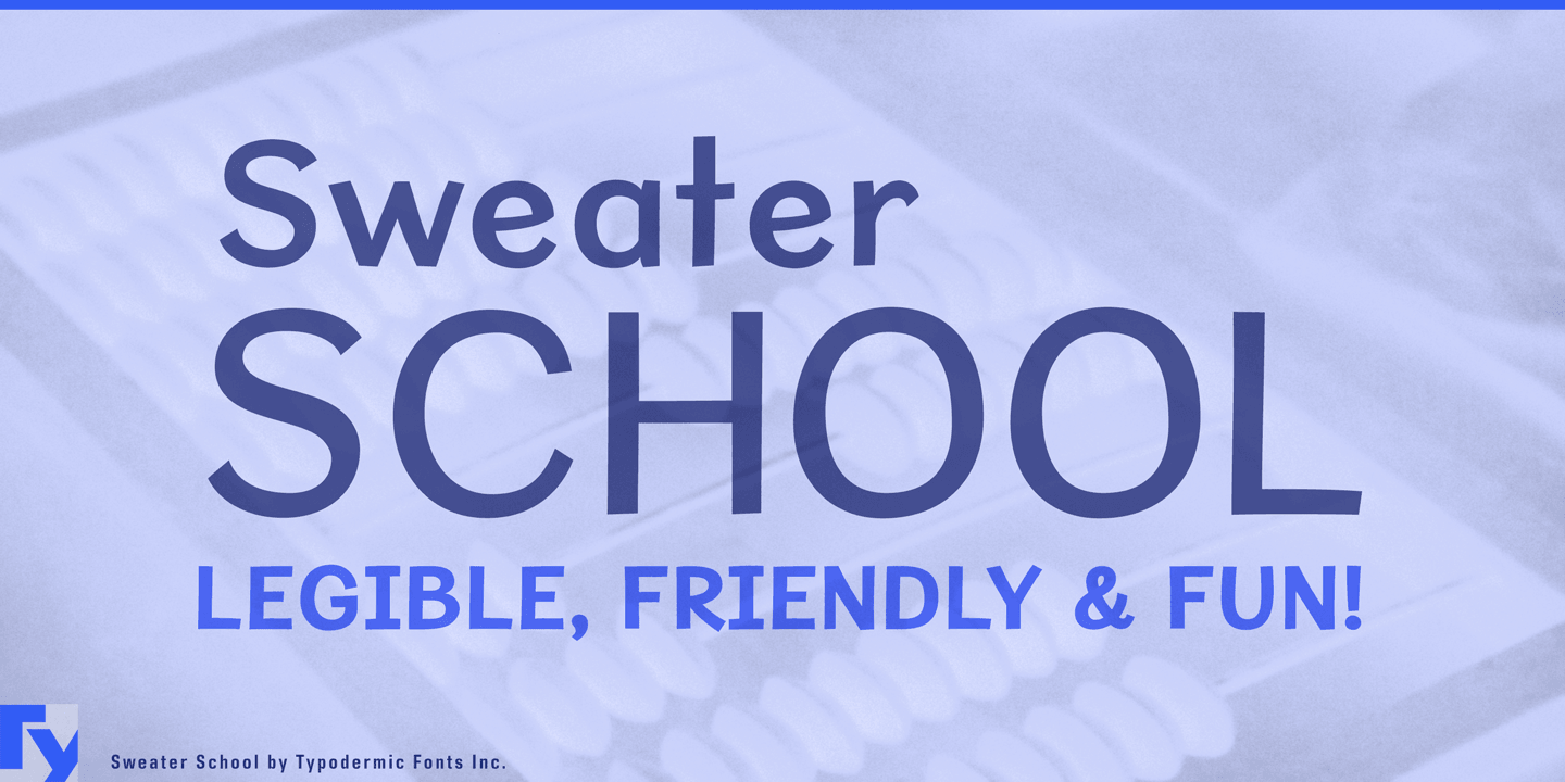 Sweater School font family