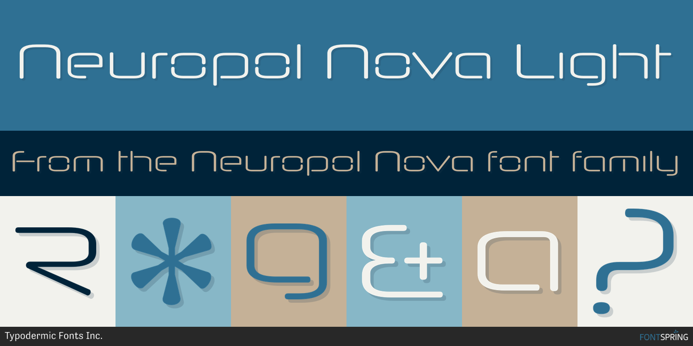 Fontspring   Similar Fonts To Neuropol Nova