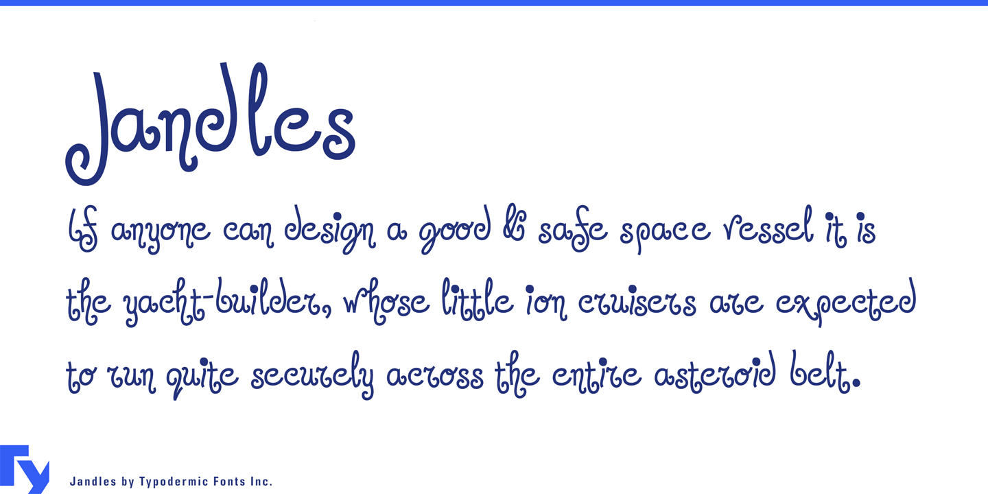 Jandles font family