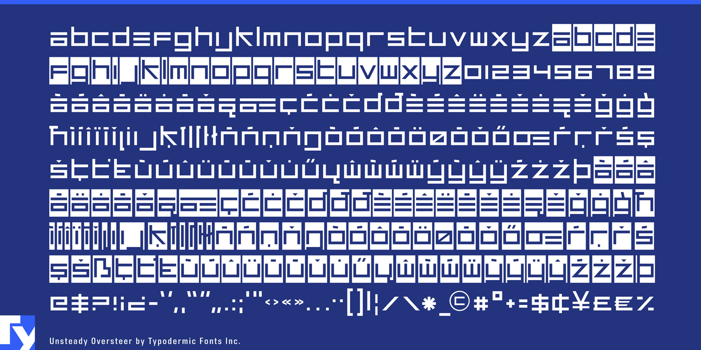 Unsteady Oversteer font family - 1