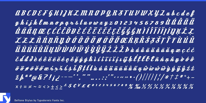 Deftone stylus font · 1001 fonts.