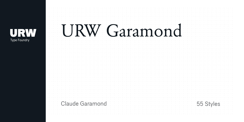 Fontspring | URW Garamond Fonts by URW Type Foundry