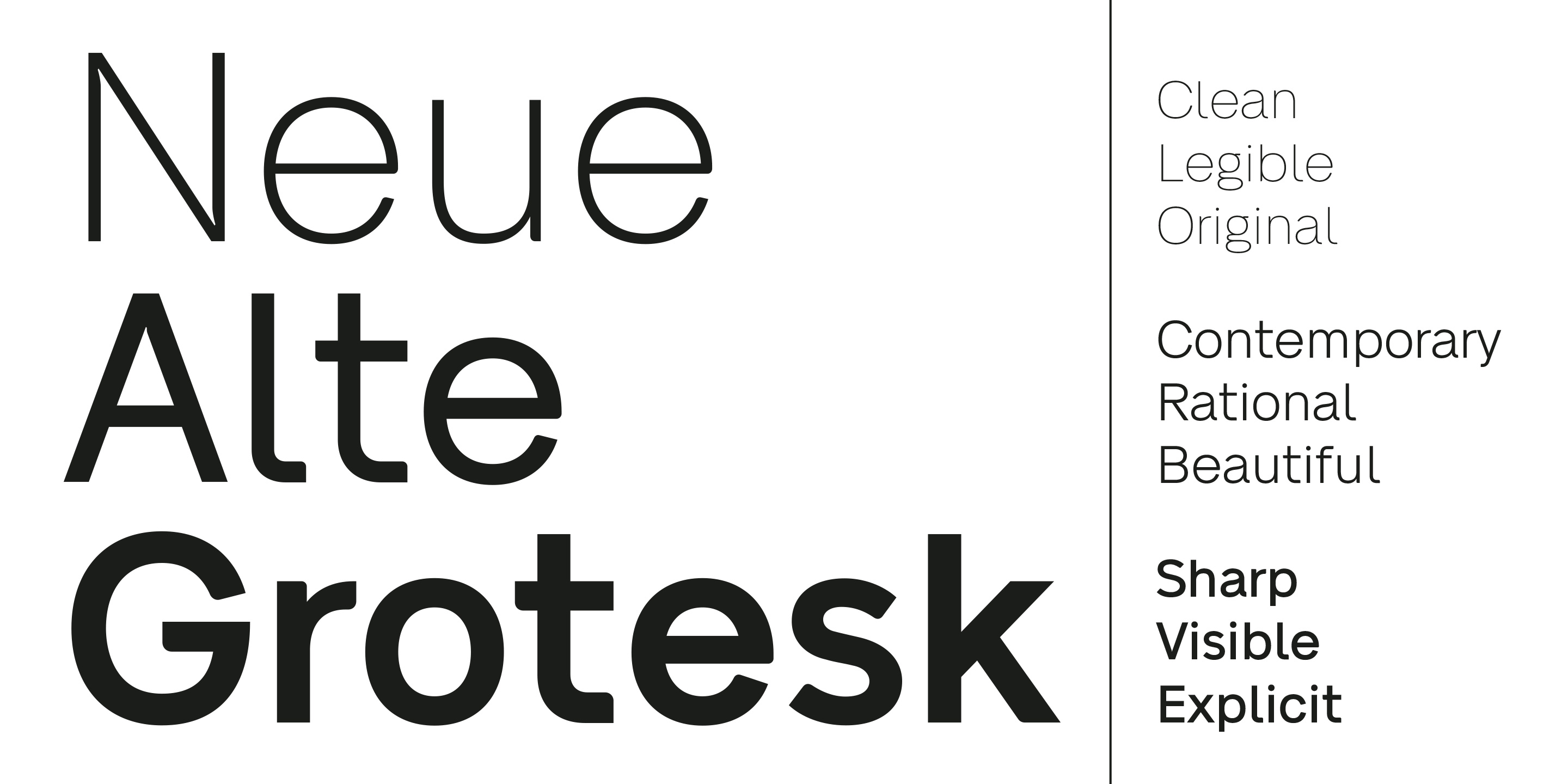 Fontspring | Neue Alte Grotesk Fonts by VISUAL WORKS