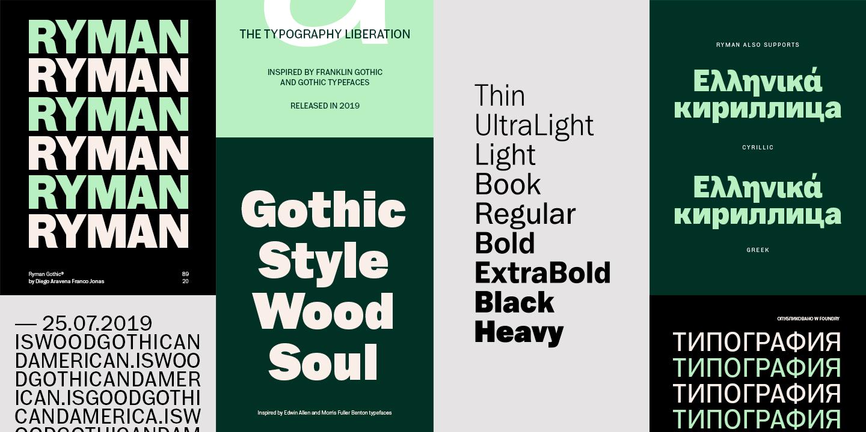 Fontspring   Ryman Gothic Fonts by W Foundry