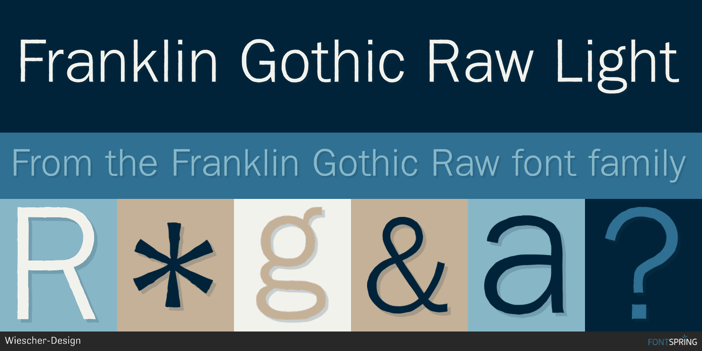 Fontspring | Similar Fonts To Franklin Gothic Raw