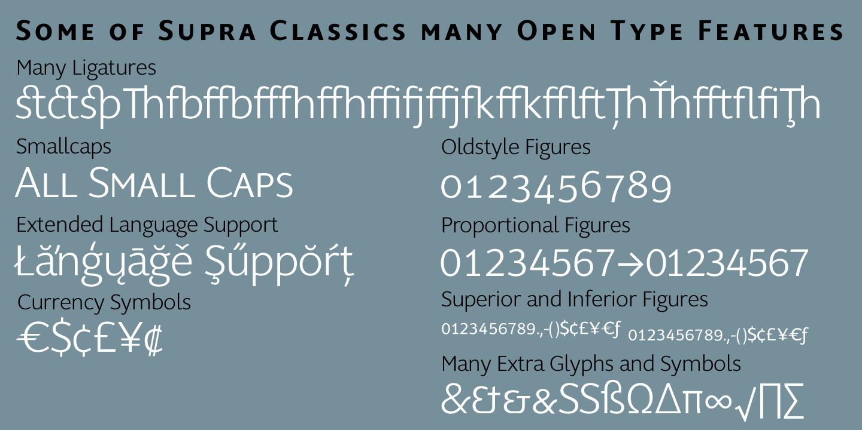 Fontspring supra classic fonts by wiescher design gallery biocorpaavc