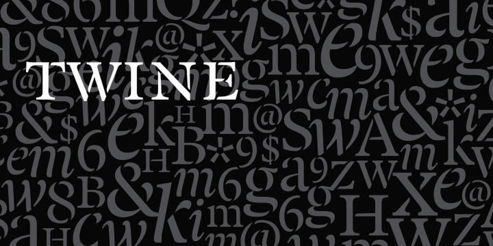 Twine font family - 4