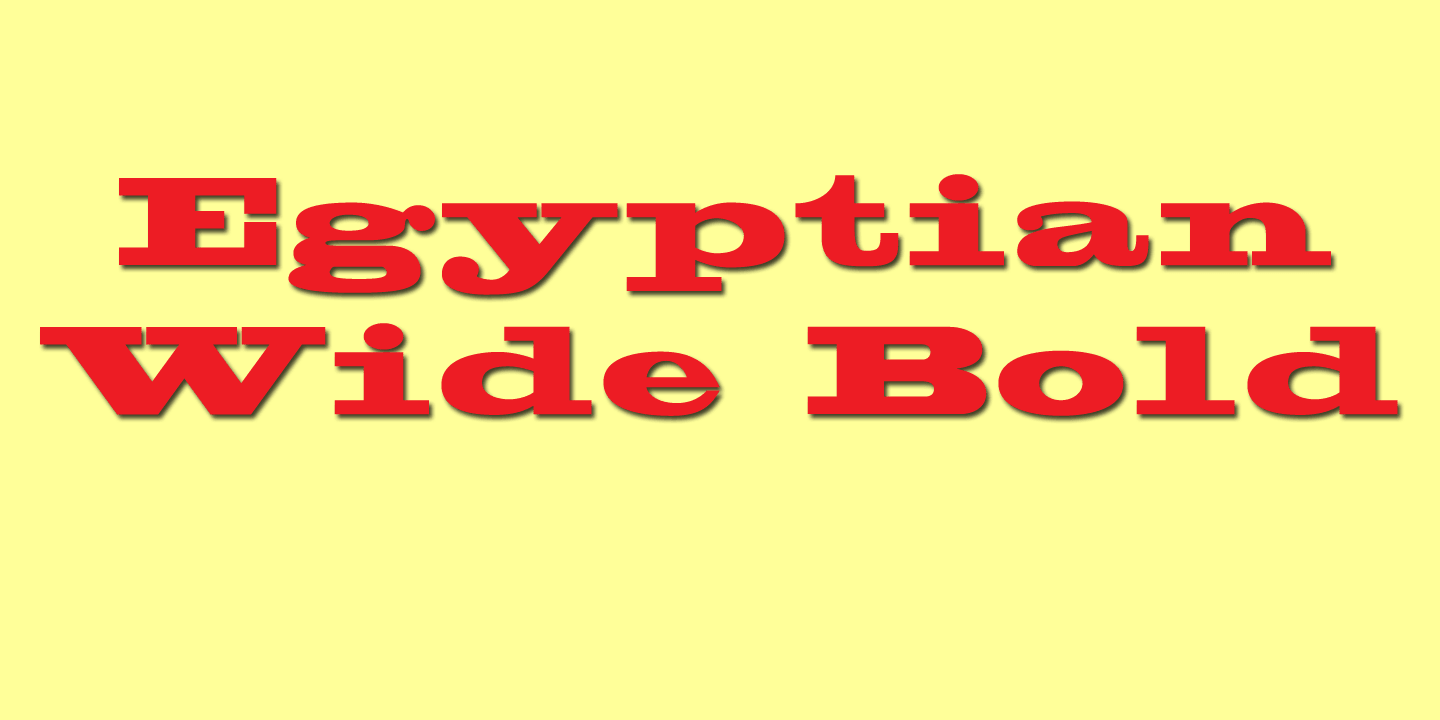 Egyptian Wide font family