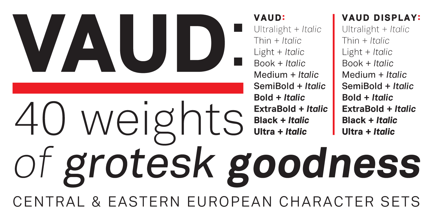 Fontspring | Vaud Fonts by Wordshape