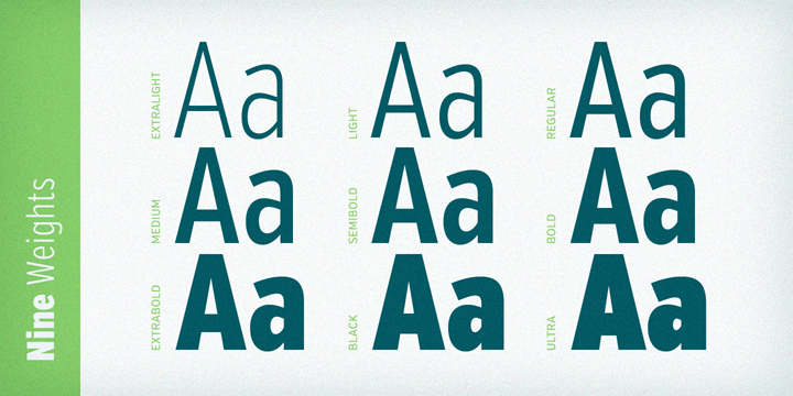 Verb Compressed font family - 5