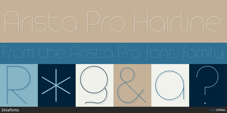 Fontspring | Similar Fonts To Arista Pro
