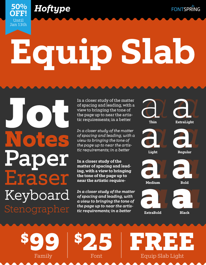 Equip Slab Font Family