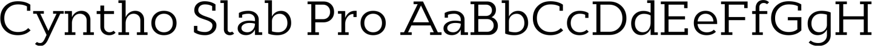 Cyntho Slab Pro Sample Text