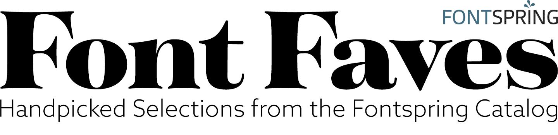 Fontspring: Font Faves Newsletter | January 29, 2016