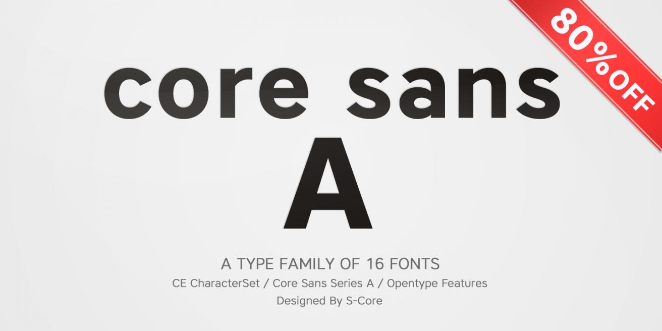 Core Sans A Poster