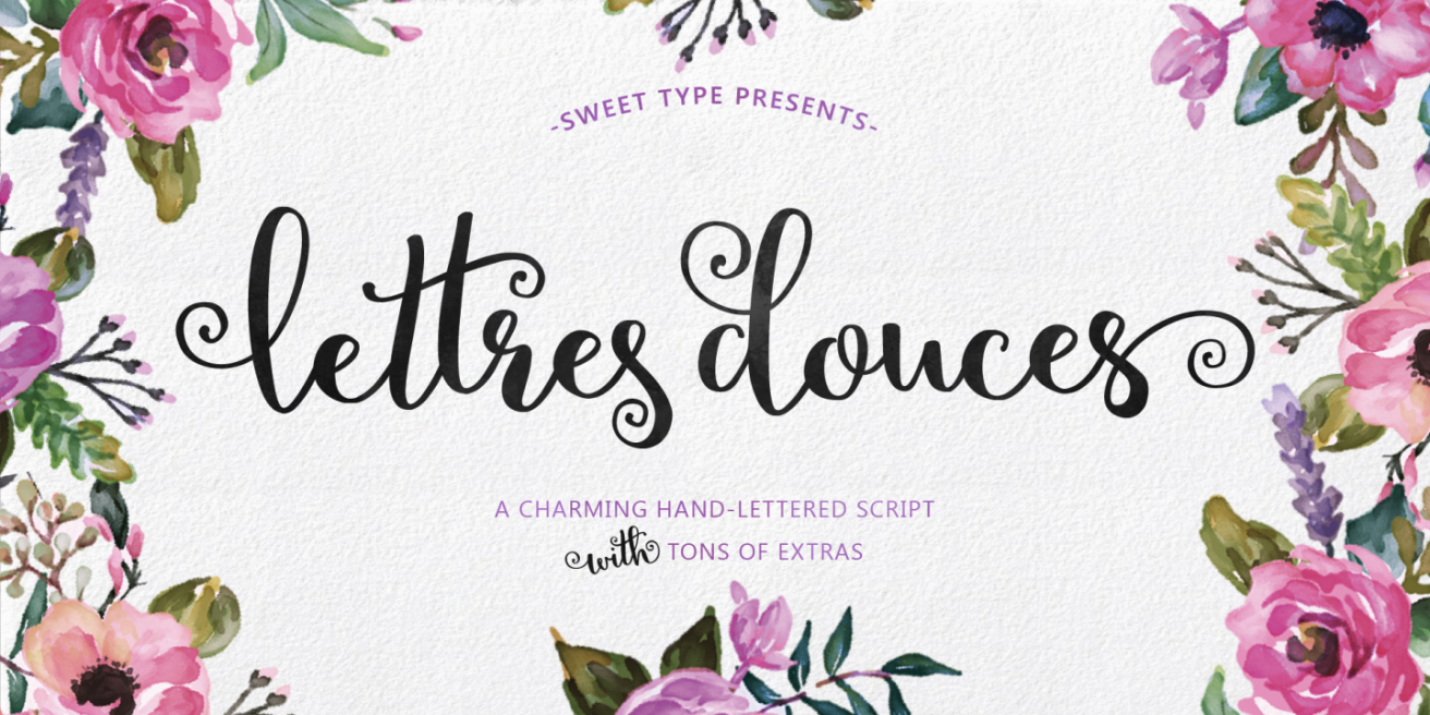 Lettres Douces Poster