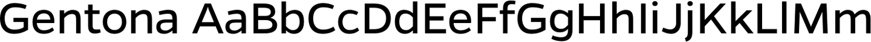 Gentona Sample Text