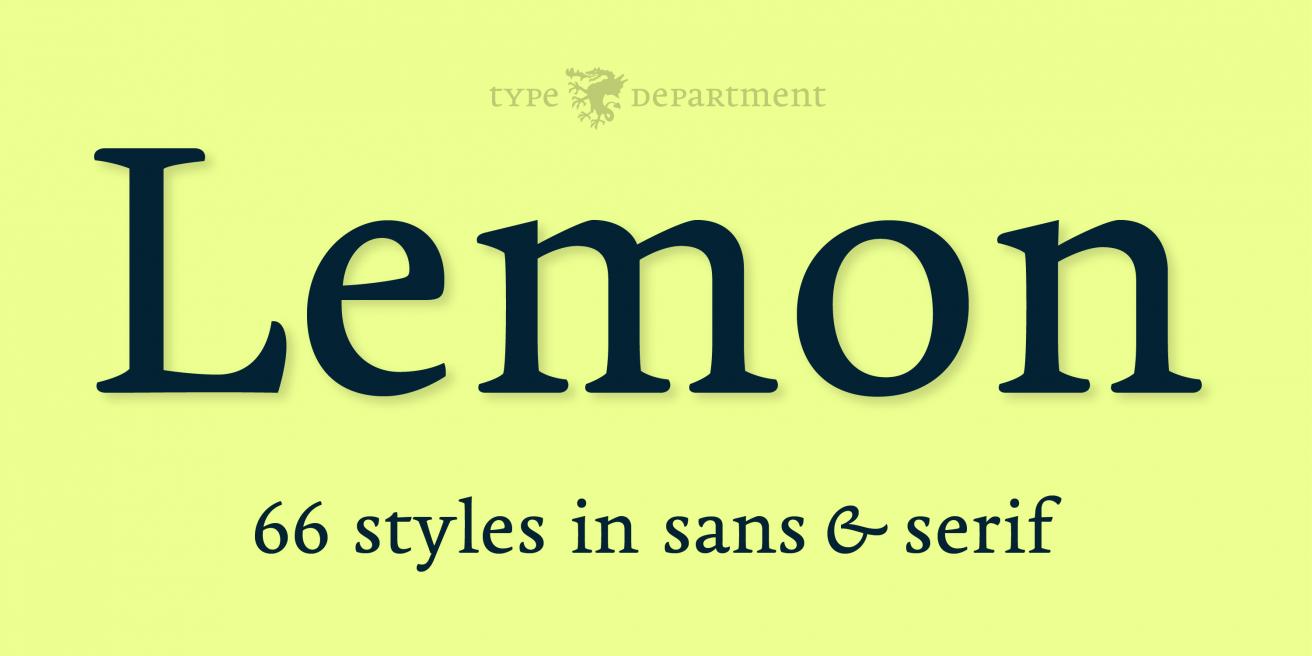 Lemon Serif Poster