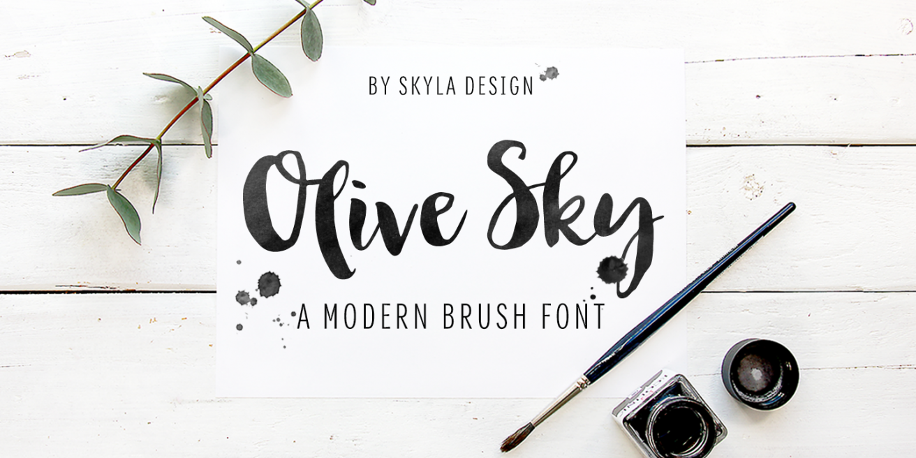 Olive Sky Poster