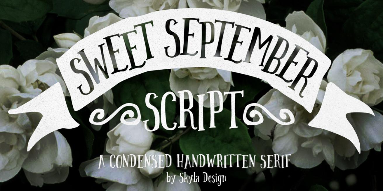 Sweet September Poster