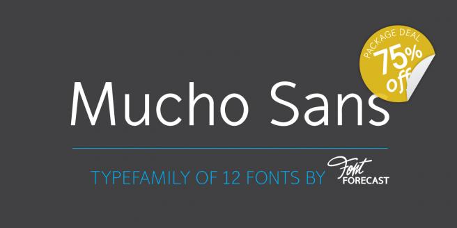 Mucho Sans Poster