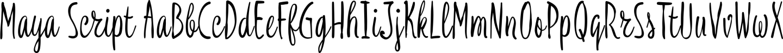 Maya Script Sample Text