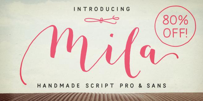 Mila Script Pro Poster