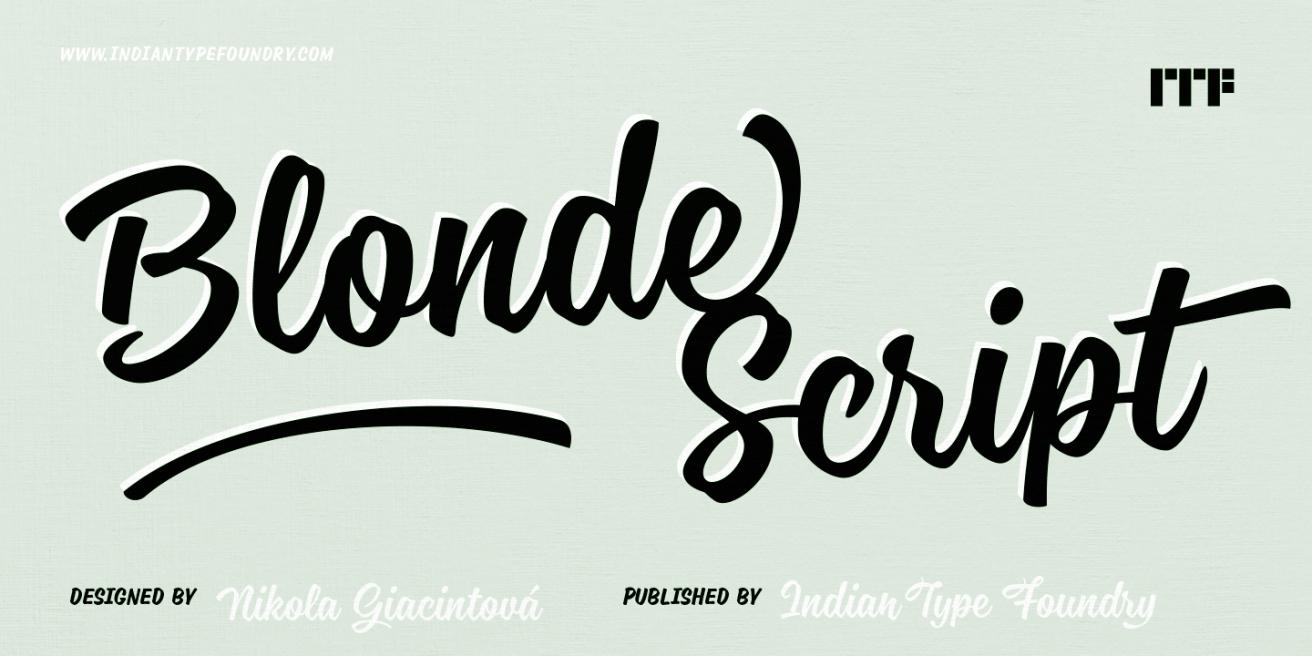 Blonde Script Poster