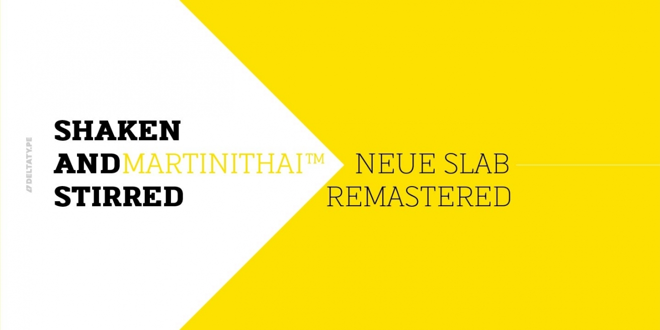 Martinithai Neue Slab Poster