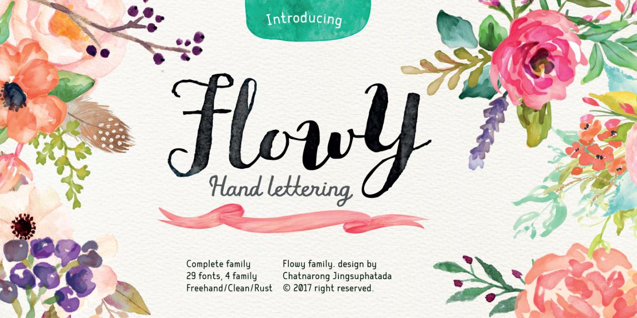 Flowy Poster