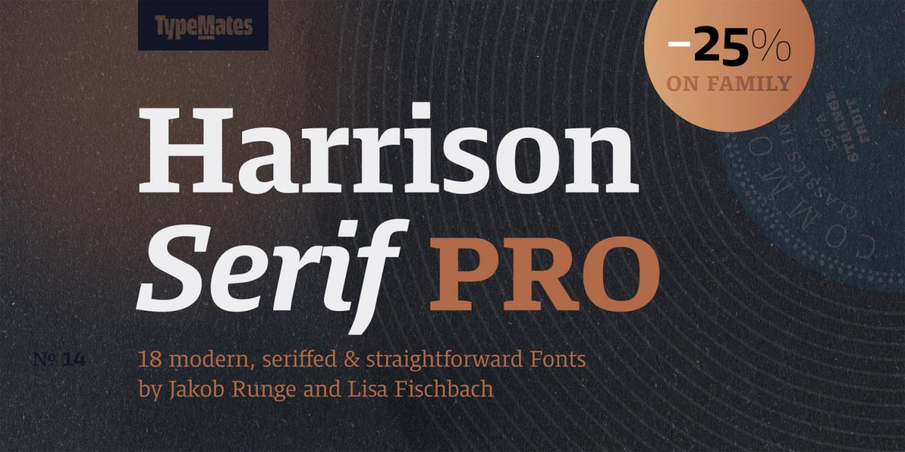 Harrison Serif Pro Poster